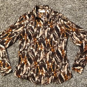 New York & Company Tan/Brown Blouse